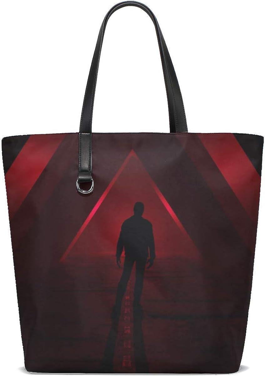 Silhouette Triangles Red Tote Bag Purse Handbag For Women Girls