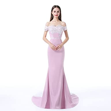 Jane Vini Womens Off The Shoulder Mermaid Evening Dresses Long Party Prom Gowns - -