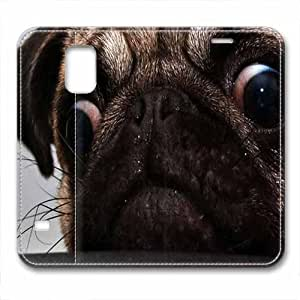 New Design and Good Quality Case,PU Leather Magnet Shell Stand Case Cover for Samsung Galaxy S5 with Cute Dog
