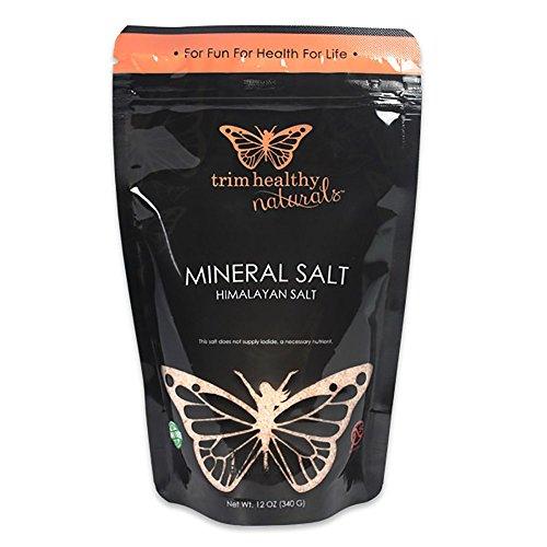 Trim Healthy Mama 100% Pure Gourmet Himalayan Mineral Salt (Certified Kocher Sea Salt) 12oz