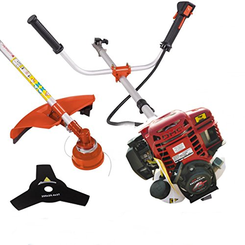 CHIKURA Multi 4 Stroke GX35 Engine 2 in 1 Brush Cutter Petrol Hedge Trimmer Chainsaw