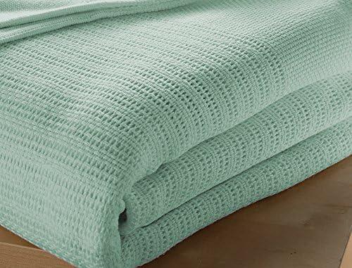 Musbury - Manta para cama individual (100% algodón, 180 x 230 cm ...