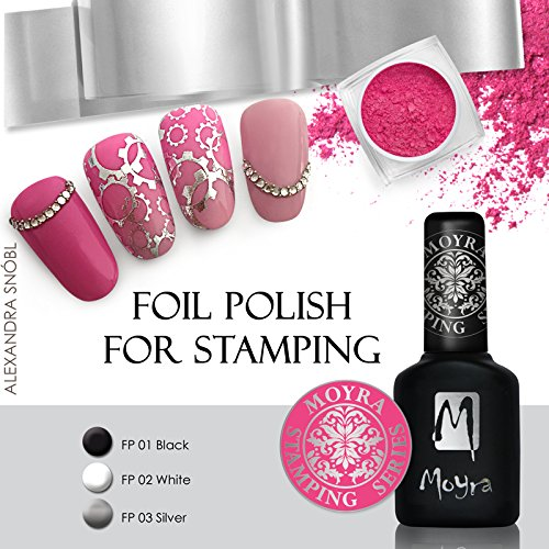 *NEW* MOYRA FOIL POLISH FOR STAMPING *UNIQUE POLISH TO STAMP WITH METAL FOIL (WHITE) (Stamping Foils)