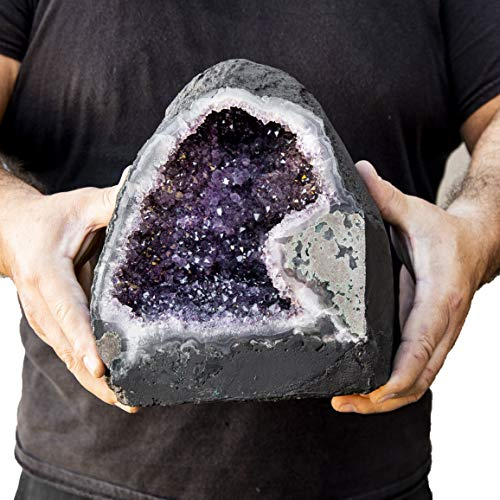 Beverly Oaks Large Amethyst Crystal Cathedral ~ Raw Amethyst Stone Geode ~ 17 lb Amazing Amethyst Cluster (AC-50D)