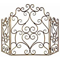 Kora Metal Fireplace Screen from Uttermost Co