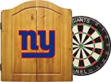 Cabinet Giant Imperial Officially Licensed NFL Merchandise: Dart Cabinet Set with Steel Tip Bristle Dartboard and Darts, New York Giants