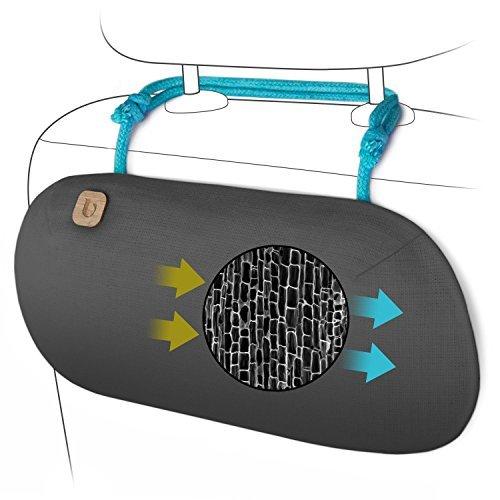 purggo ambientador para coche–Auto eliminador de olores–100% activado carbón de bambú purificador de aire,...