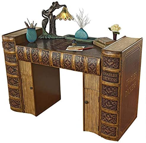 Design Toscano Literary Volumes Writing Desk, full color