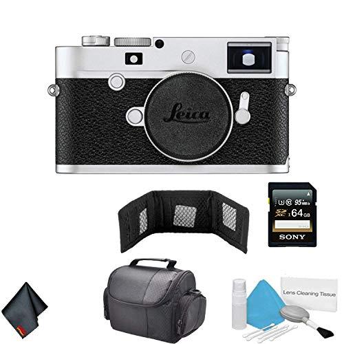 Leica M10-P Digital Rangefinder Camera 24MP (Silver Chrome | 20022) - Bundle with 64GB Memory Card