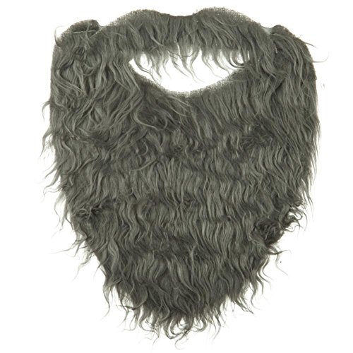Jacobson Hat Company Men's Beard with Elastic, Grey, Adult, One Size -