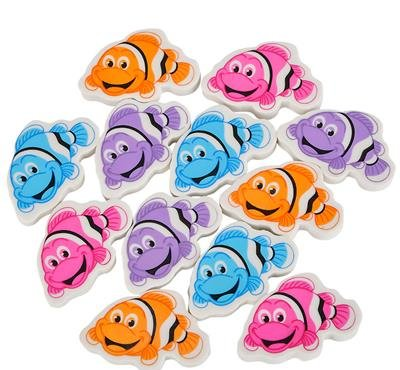 1.5'' CLOWNFISH ERASER, Case of 60