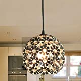 Modern Globe Crystal Max 40W Mini Style Electroplated Pendant Lights for Bedroom Dining Room