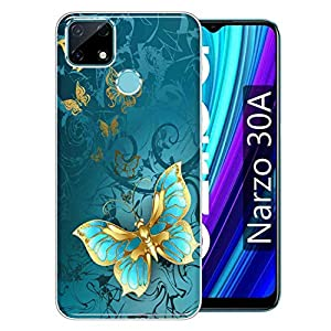 Gismo Designer Printed Soft Silicone Pouch Back Case Mobile Cover for Realme Narzo 30A -A30