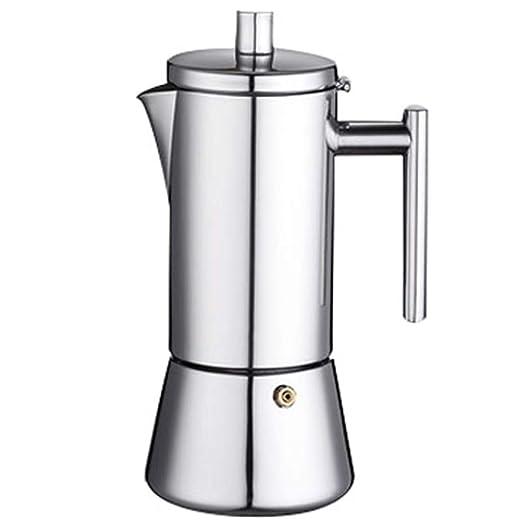 BAIJJ Cafetera Espresso Italiana, Olla de Acero Inoxidable ...