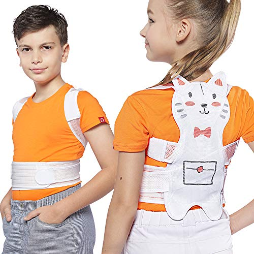 Lemon tree Premium Posture Corrector for Kids Back Corrector for Girls by ROSERAIN - Scoliosis Humpback Correction Belt-Physical Therapy Spinal Support Back Braces-Posture Trainer Under Clothes(Small) (Trainers Girls Childrens)