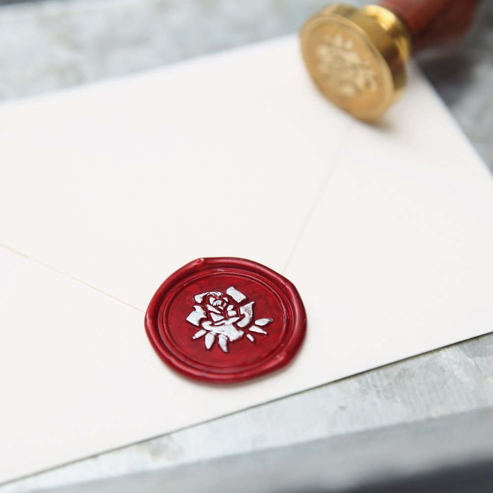 UNIQOOO Arts & Crafts Elegant Love Heart The Knot Wax Seal Stamp ...