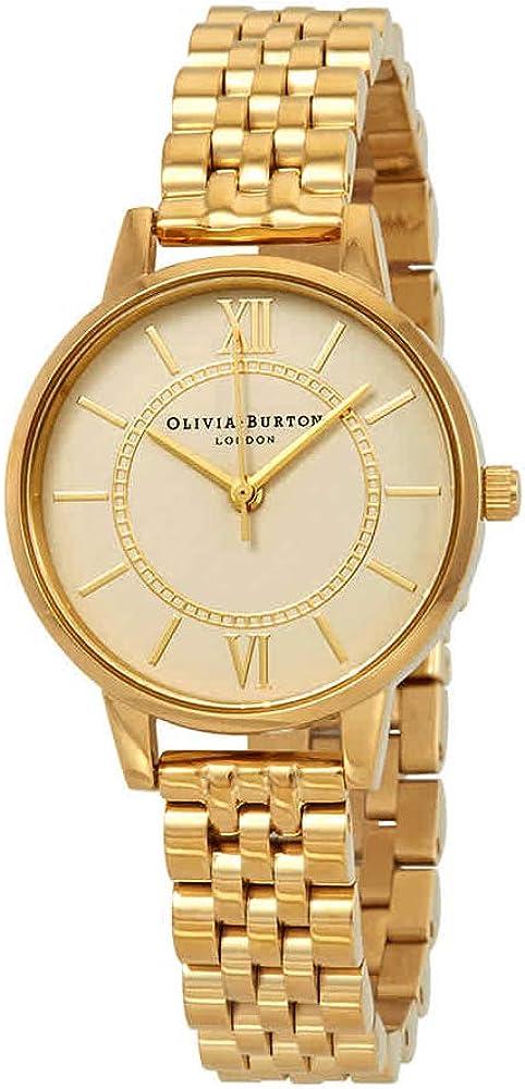 (オリビアバートン) OLIVIA BURTON レディース 腕時計 30mm OB16WD69 WONDERLAND NUDE DIAL & GOLD BRACELET (並行輸入品)