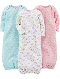 Girls' 3-Pack Cotton Sleeper Gown
