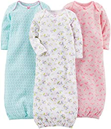 Baby Girls 3-Pack Cotton Sleeper Gown