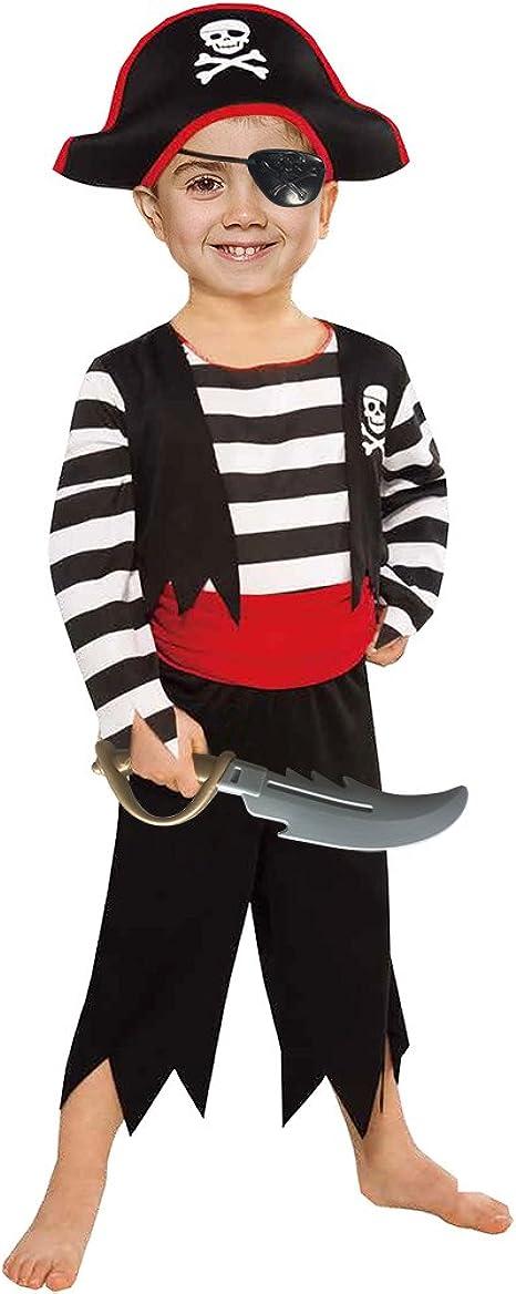 Amazon.com: SP Funworld Disfraz de pirata para niños con ...