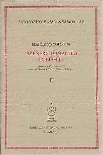Book Hypnerotomachia Poliphili