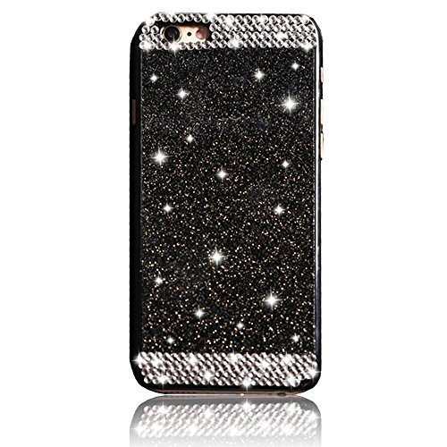 Apple iPhone 5C Diamond Case,Vandot Slim Fit 3D Bling Sparkling Crystal Rhinestone Unique Design PC Hard Back Cellphone Cover,High Quality Anti-Scratch Protective Skin Shell-Black