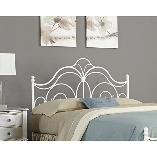 White Metal Queen Bed - 7