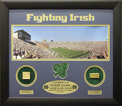 Encore Select ENC-NDSTAD12 20 x 24 Notre Dame Print with Actual Authentic Pieces from Stadium by Encore