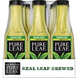 Pure Leaf Iced Tea, Unsweetened Green Tea, Real Brewed Tea, 0 Calories, 18.5 Ounce (Pack of 12)