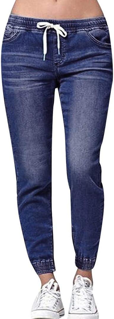 Riou Pantalon Chandal Mujer Largos Tallas Grandes Pantalones Vaquero Con Cordon De Algodon Pantalones Hasta La Pantorrilla Suaves Y Ligeros Pantalones De Chandal Con Bolsillo Amazon Es Ropa Y Accesorios