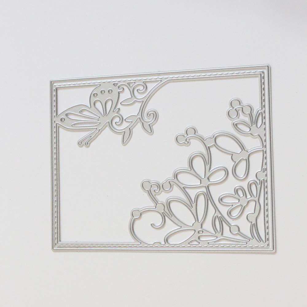 Ddge Dmms Fustella in metallo a forma di scatola per decorazioni 3D fai da te strumento per goffratura
