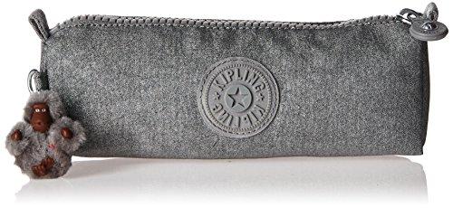 Crinkle Nylon Travel Wallet (Kipling Fabian Metallic Pouch, Silver Glimmer Metallic)