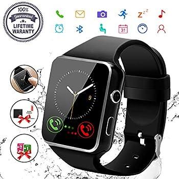 Amazon.com: Bluetooth Smart Watch with Camera Touchscreen ...