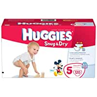 Huggies Snug & Dry Diapers, Size 5, Giant Pack, 120 Count