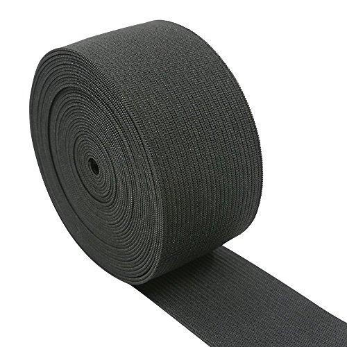 Flat Roll Non (iCraft 1.5-Inch Wide by 5-Yard Black Heavy Stretch Knit Elastic 33110)