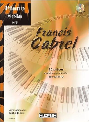 Livres Piano solo n°5 : Francis Cabrel pdf, epub ebook