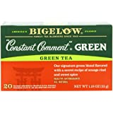Bigelow Constant Comment Green Tea 20-Count Boxes 1.18Oz (Pack of 6), Premium Spiced Green Tea, Antioxidant-Rich All-Natural Gluten-Free Medium-Caffeine Tea in Foil-Wrapped Bags