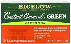 Bigelow Constant Comment Green Tea, 20-Count Boxes (Pack of 6)