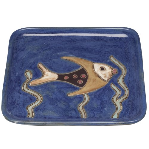 Animal World - Fish and Seaweed Square Dinner Plate by Blaze International