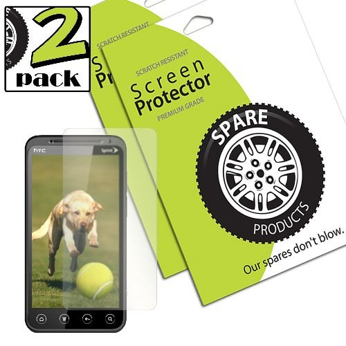 (Spare Products Screen Protector Film for HTC EVO 3D - 2 Pack - Retail Packaging - Anti-Glare)