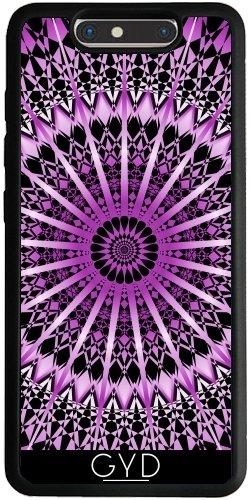 Funda Silicona para ZTE Blade V8 - Mandala Púrpura Metálico Negro by Nina Baydur
