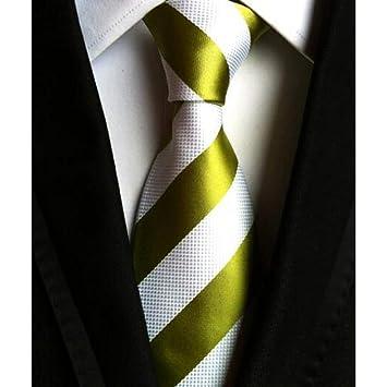 DYDONGWL Corbata Fina Hombre,Corbatas de Moda Raya de Hombre ...