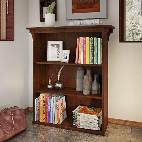 Bush Furniture MCB136AN-03 Mission Creek 3 Shelf Bookcase, Antique Cherry by Bush Furniture