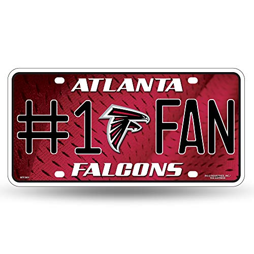 NFL Atlanta Falcons #1 Fan Metal License Plate Tag ()