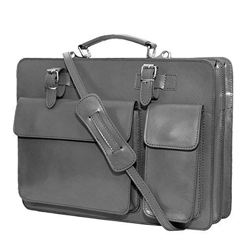 Fichier cuir sac Italie UNISEX avec portable bandoulière Gris mod ordinateur p de 2027 business r5qrR