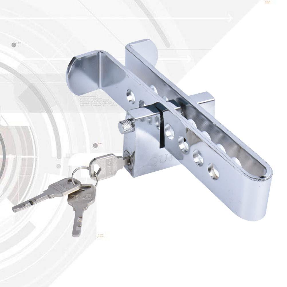 Vosarea Auto Anti-theft Clutch Lock Car Brake Stainless Strong Security Lock Tool Vehicle Brake Lock Sliver