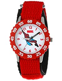 Marvel Comics Kids' W000104 Spider-Man Stainless Steel Time Teacher Watch