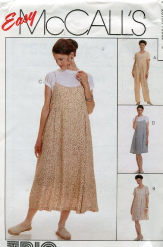 - Easy McCall's Trio by Judy Loeb Pattern 7560 ~ Maternity Jumpsuit, Dress & Slip Dress in Two Lengths ~ Sizes 16-18-20