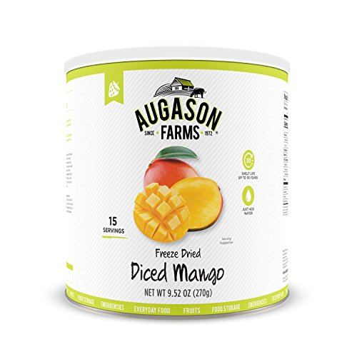 Augason Farms Freeze Dried Diced Mango 9.52 oz No. 10 Can ()