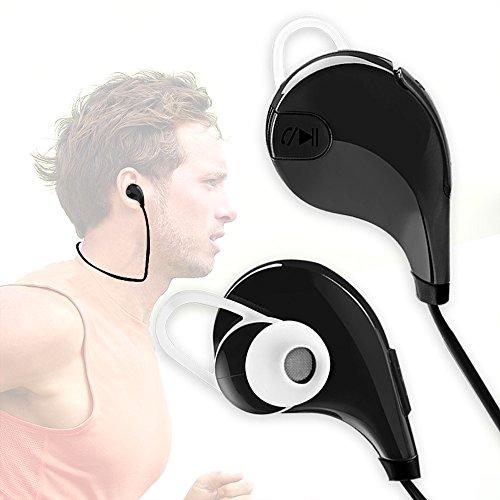 KMFEEL Qy7 wireless bluetooth earphoneearbudheadphoneheadsetPowerful Stereo SoundLong Battery EnduranceLightweightRunningOutdoorFor iphoneSamsung Galaxy & other cellphones Black